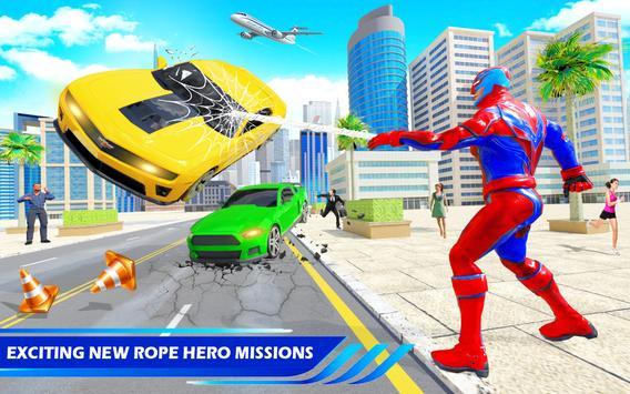 Flying Police Robot Rope Hero: Gangster Crime City screenshot 15