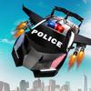 Flying Police Car Transform Robot Shooting Games APK