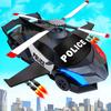 ikon helikopter polisi terbang membuat mobil game robot