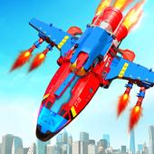Flying Robot Rocket Transform Robot Shooting Games icon