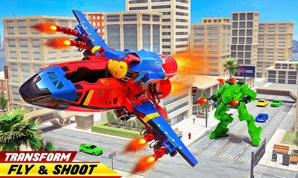 Flying Robot Rocket Transform Robot Shooting Games screenshot 1