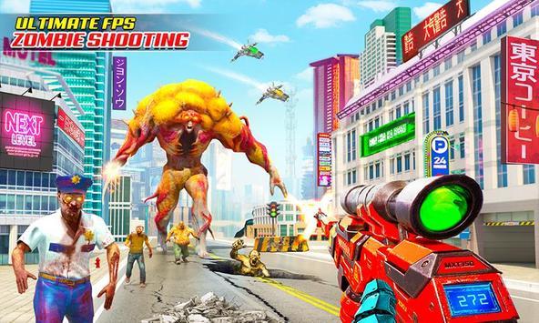 US Police Robot Zombie Shooter Robot Shooting Game screenshot 1