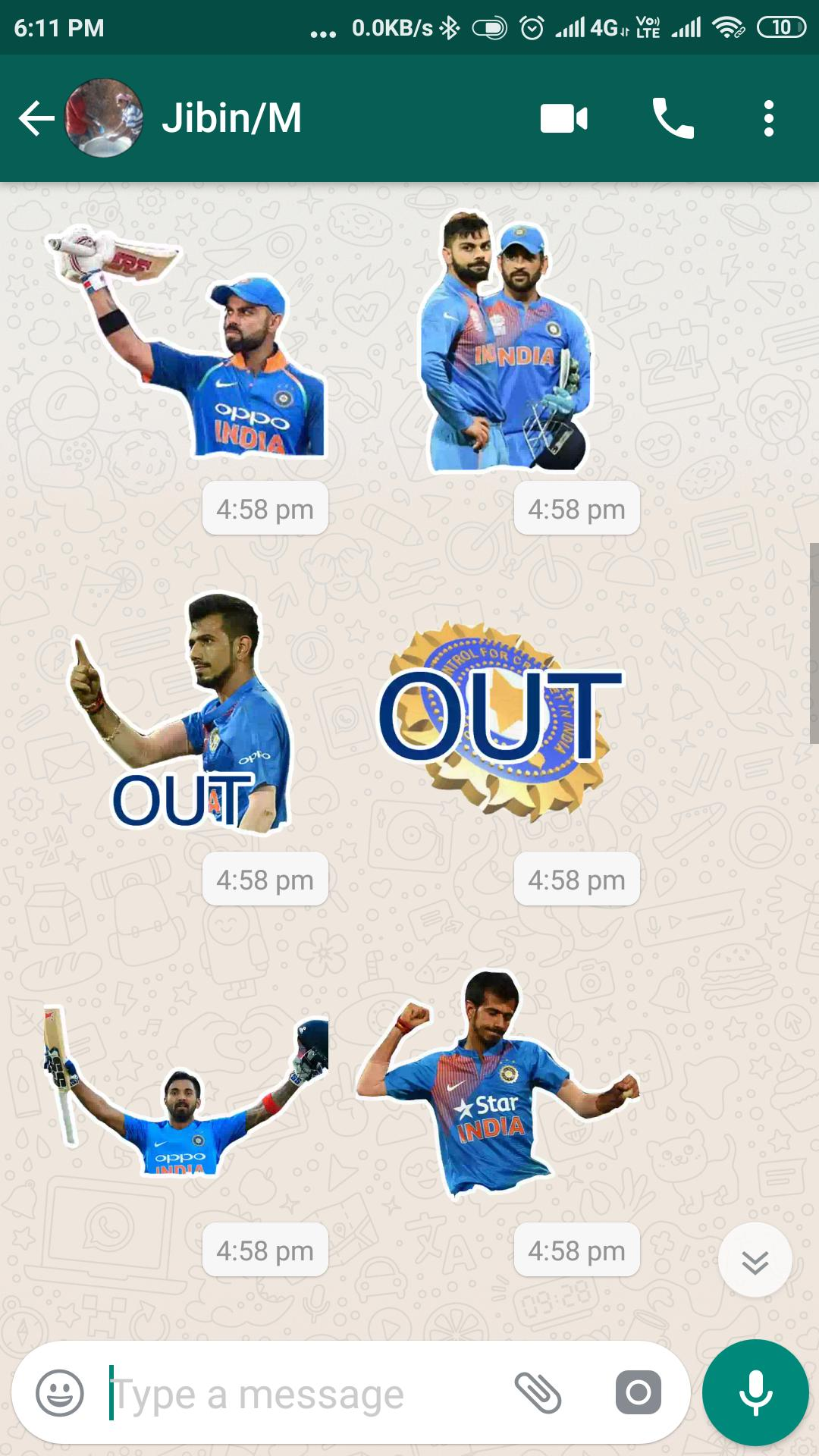Cricket World Cup Stickers for Whatsapp poster
