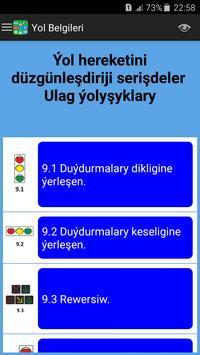 Türkmenistan Ýol Belgileri we Kadalary screenshot 3