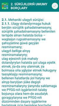 Türkmenistan Ýol Belgileri we Kadalary screenshot 7