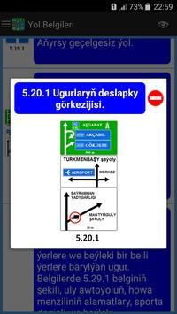 Türkmenistan Ýol Belgileri we Kadalary screenshot 5