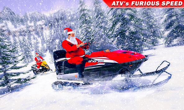 Santa Atv Snow Bike Racing 2020 : Quad Bike Race poster