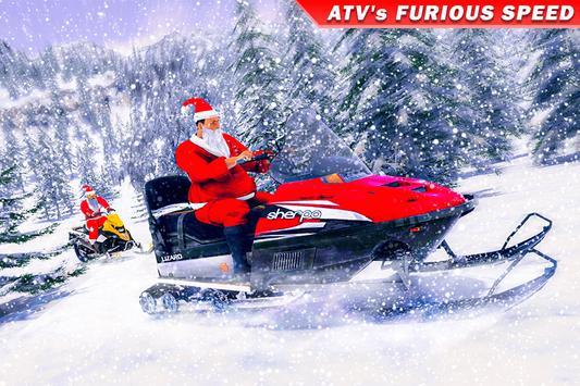 Santa Atv Snow Bike Racing 2020 : Quad Bike Race screenshot 10