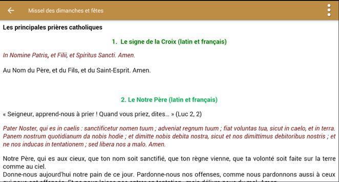 Lectionnaire Catholique скриншот 13