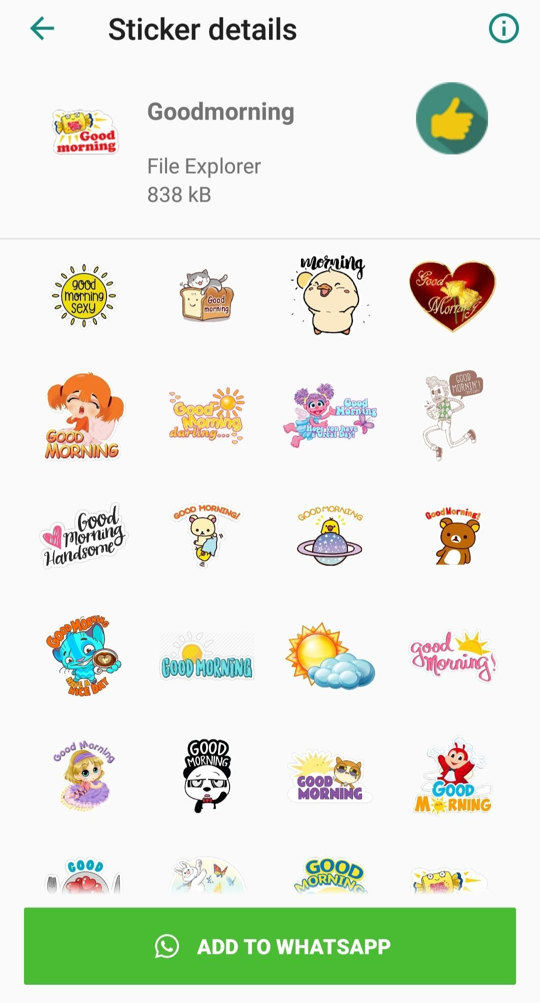 Good Morning Sticker for Android - APK Download