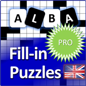 Fill it ins crosswords PRO- Fill ins word puzzles ícone