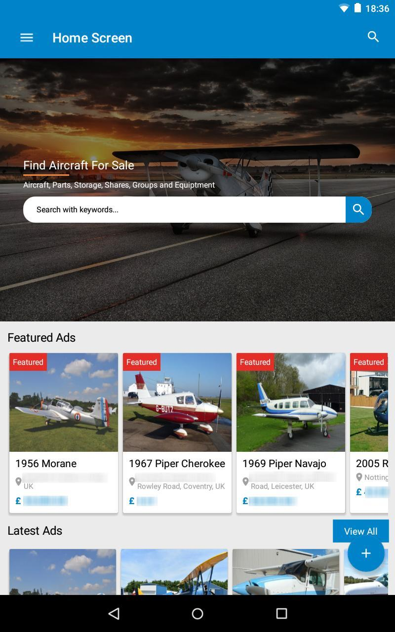 Find Aircraft For Sale for Android - APK Download