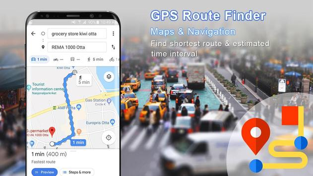 GPS Route Finder : Directions and Maps Navigation poster
