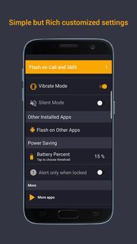 Flash on Call & SMS, Flash alerts Flashlight blink screenshot 2