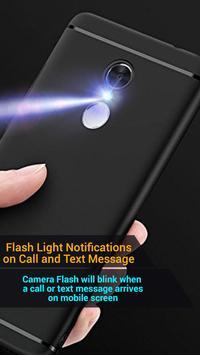 Flash on Call & SMS, Flash alerts Flashlight blink screenshot 3
