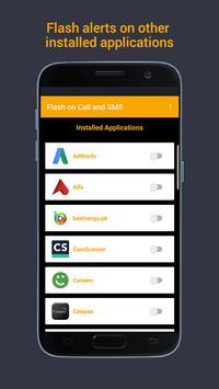 Flash on Call & SMS, Flash alerts Flashlight blink screenshot 4