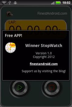 Winner stopwatch screenshot 2
