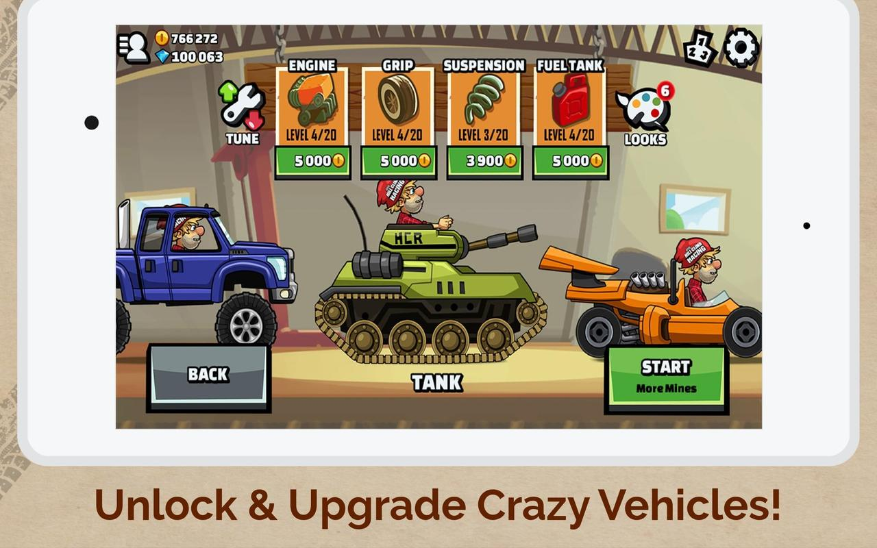 hill climb racing 2 mod apk download unlimited fuel and money