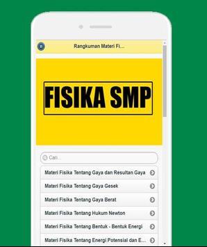 Rangkuman Materi Fisika SMP screenshot 3