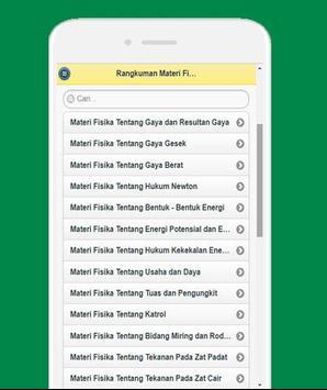 Rangkuman Materi Fisika SMP screenshot 1