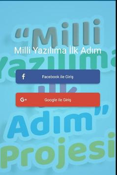 """""""Milli Yazılıma İlk Adım"""" Projesi poster"""