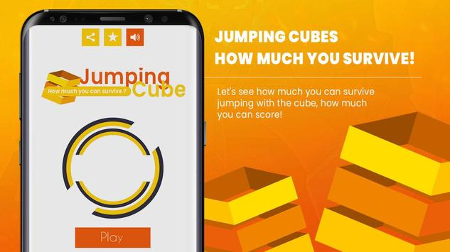 Jumping Cube - How Much You Can Score ? poster