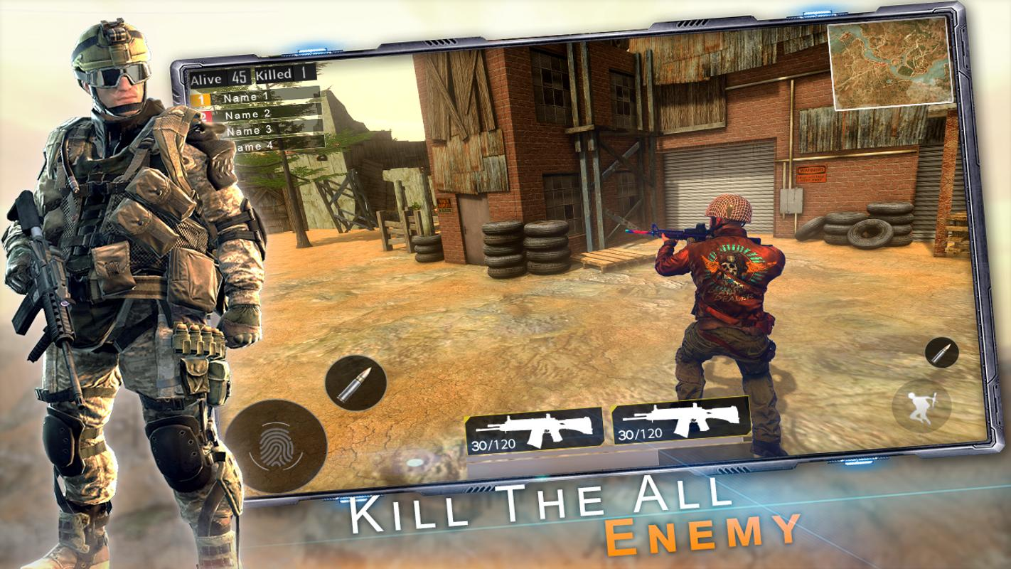 Free Unknown Battleground Fire Squad Survival Game screenshot 2