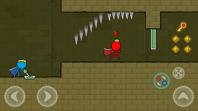 Red and Blue Stickman : Animation Parkour screenshot 4