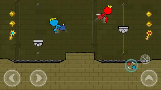Red and Blue Stickman : Animation Parkour screenshot 6