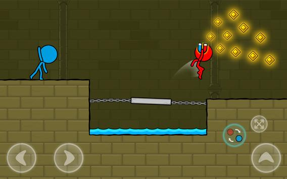 Red and Blue Stickman : Animation Parkour screenshot 13