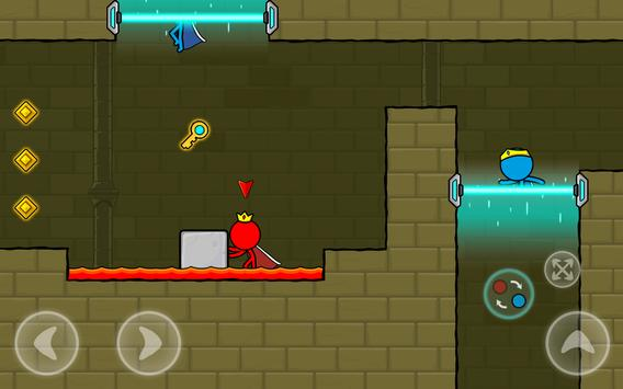 Red and Blue Stickman : Animation Parkour screenshot 11