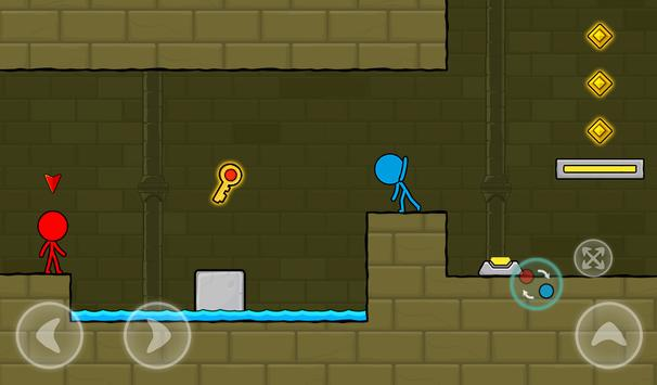 Red and Blue Stickman : Animation Parkour screenshot 17