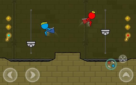 Red and Blue Stickman : Animation Parkour screenshot 14