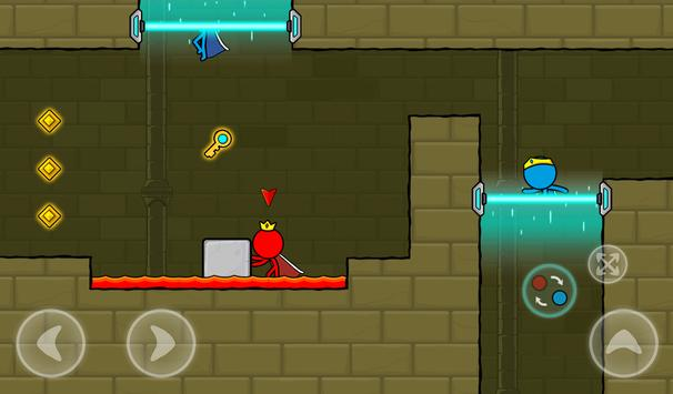 Red and Blue Stickman : Animation Parkour screenshot 19