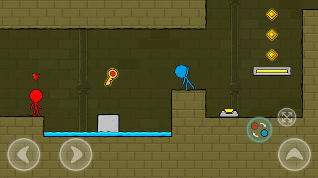 Red and Blue Stickman : Animation Parkour screenshot 1