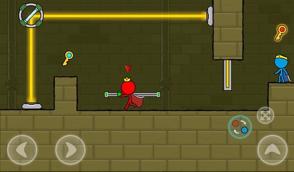 Red and Blue Stickman : Animation Parkour screenshot 23