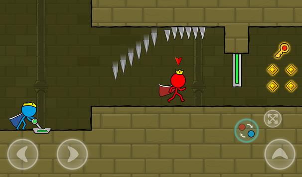 Red and Blue Stickman : Animation Parkour screenshot 20