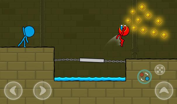 Red and Blue Stickman : Animation Parkour screenshot 21