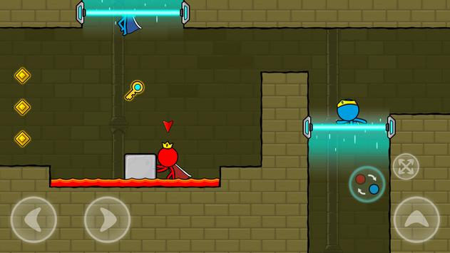 Red and Blue Stickman : Animation Parkour screenshot 3