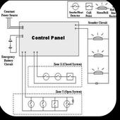 Fire Alarm Wiring Diagram icon