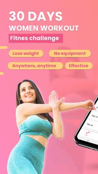 30 Days Women Workout - Fitness Challenge poster