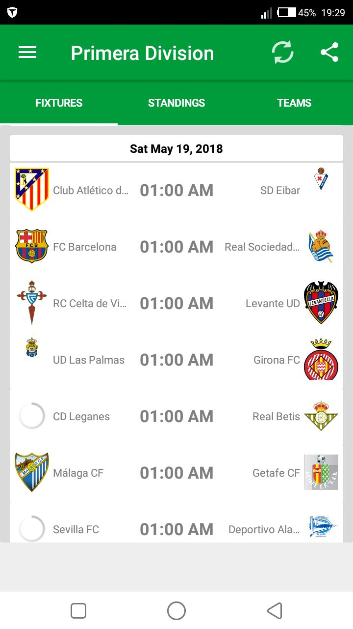 Spanish League 2019 20 Fixtures For Android Apk Download