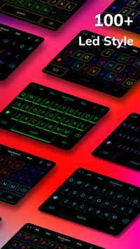 LED Lighting Keyboard - Emoji Keyboard, Fonts, GIF screenshot 1