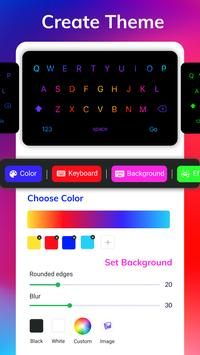 LED Lighting Keyboard - Emoji Keyboard, Fonts, GIF screenshot 4