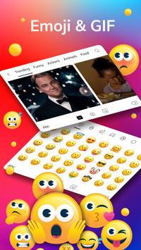 LED Lighting Keyboard - Emoji Keyboard, Fonts, GIF screenshot 3