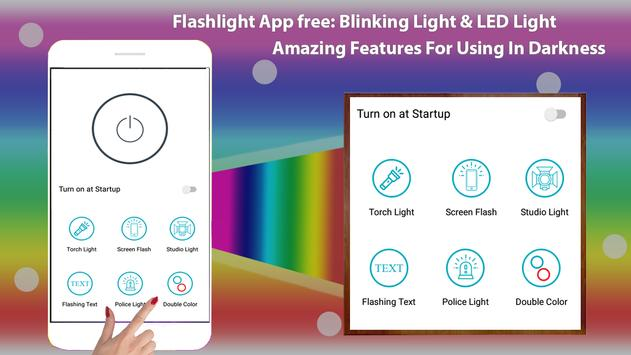 Flashlight App free: Mobile Torch & LED Light poster