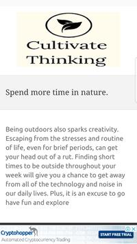 Learn Cultivate Creative Thinking screenshot 2