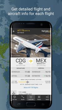 1 Schermata Flightradar24