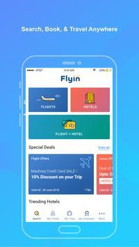 Flyin.com - طيران و فنادق الملصق