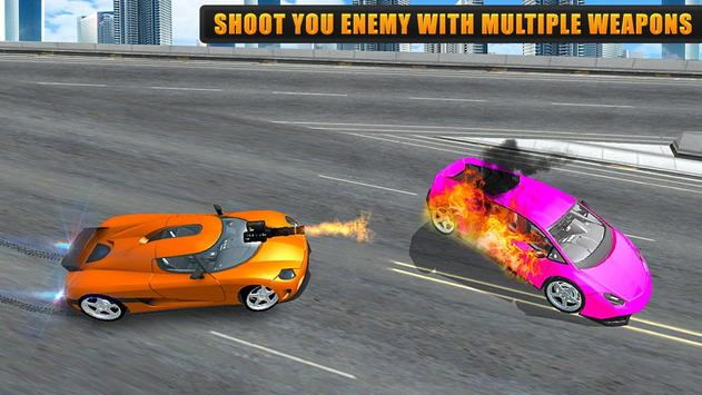 Flying Car Games 2020- Drive Robot Shooting Cars screenshot 1